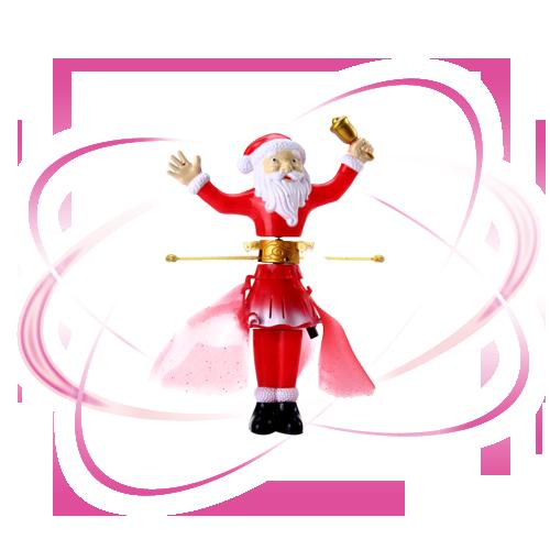прикольная новогодняя игрушка летающий дед мороз санта клаус! низкая цена 1990 вместо 3000 рублей! не более трех в одни руки!