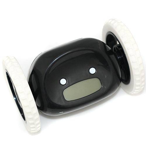 убегающий, прыгающий, попробуй догони фантастический супер будильник черный купить низкая цена